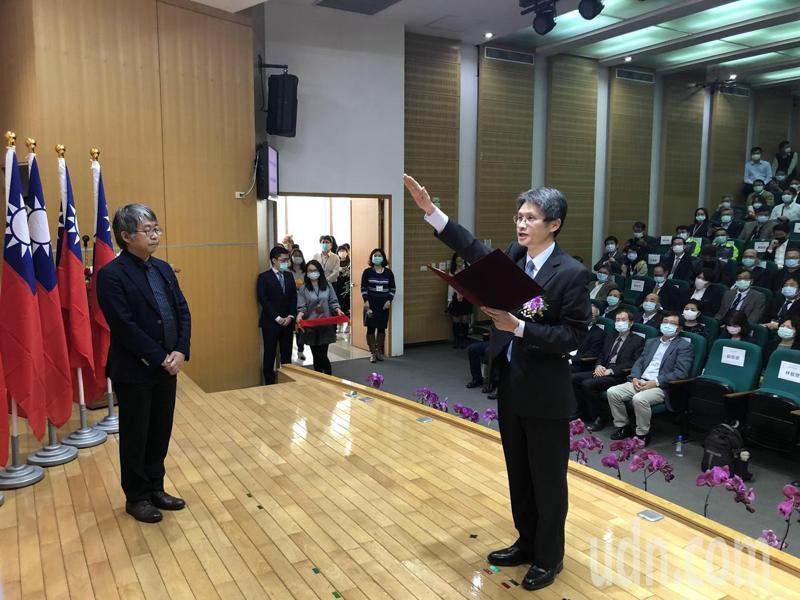 南科管理局新局長蘇振綱下午宣誓就任。記者周宗禎/攝影