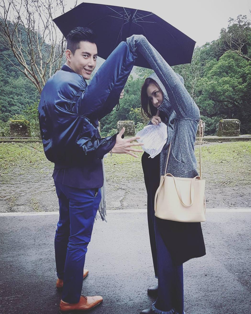 王凱(左)和王宇婕合作拍戲默契很好。圖/王凱提供