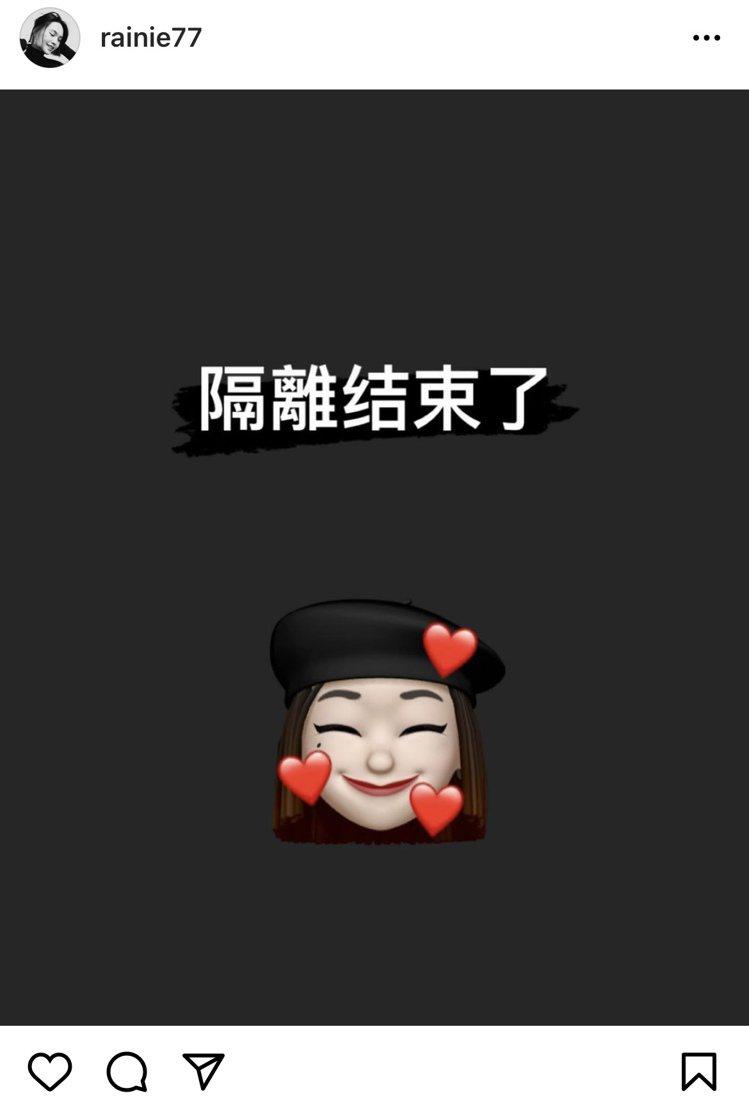 楊丞琳與老公李榮浩分隔第303天傳出好消息。圖/摘自IG