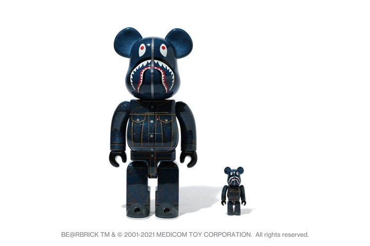 LEVI'S與BAPE聯名系列100%與400%套組BE@RBRICK熊,100...