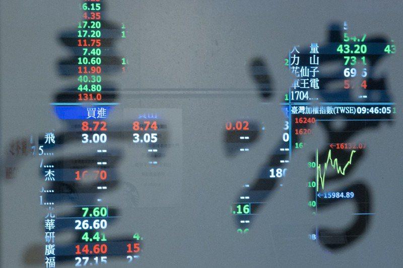 台股今日台積電與聯發科兩大權值指標股回檔修正,資金分流至其他個股,大盤指數下跌134.74點,成交量為4017.7億元。記者季相儒/攝影
