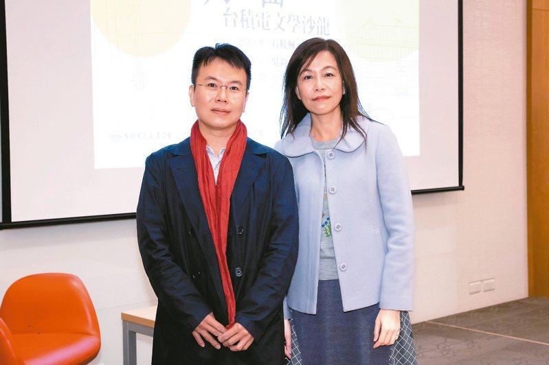 石曉楓(右)、凌性傑。(圖/本報記者季相儒攝影)