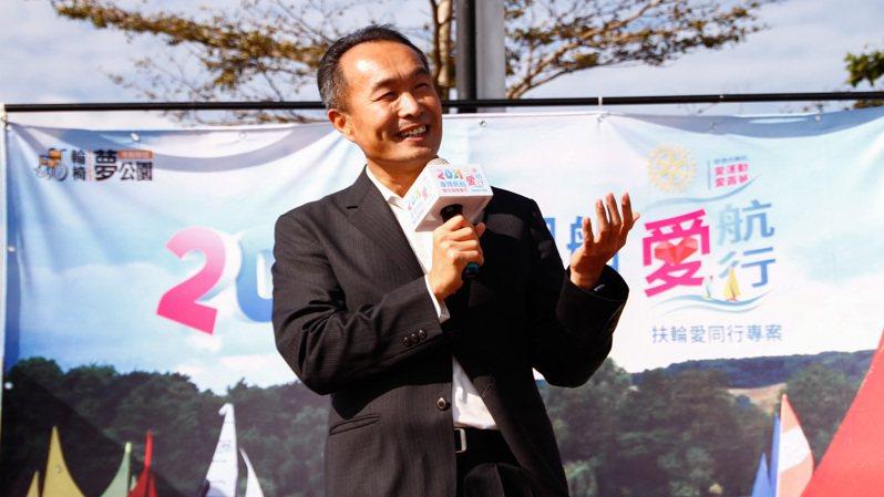 台北市政府體育局長李再立致詞。 主辦單位提供
