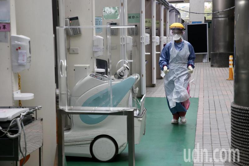 林口長庚醫院篩檢站設施。記者林俊良/攝影