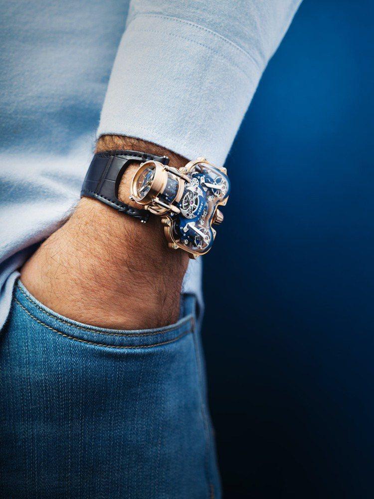 與其說是手表,MB&F的HM9-SV腕表更像一艘「停」在手上的酷炫未來飛船,1,...