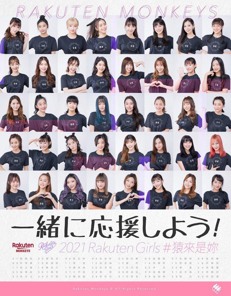 樂天桃猿隊專屬啦啦隊「Rakuten Girls」舉辦海選,40人出線參加2月20日登場的決選。圖/樂天桃猿隊提供