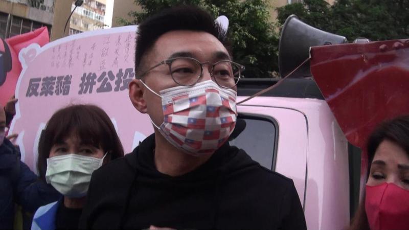 江啟臣表示,今日罷韓團體出來宣示,就很清楚誰是報復的始作俑者。記者王昭月/攝影