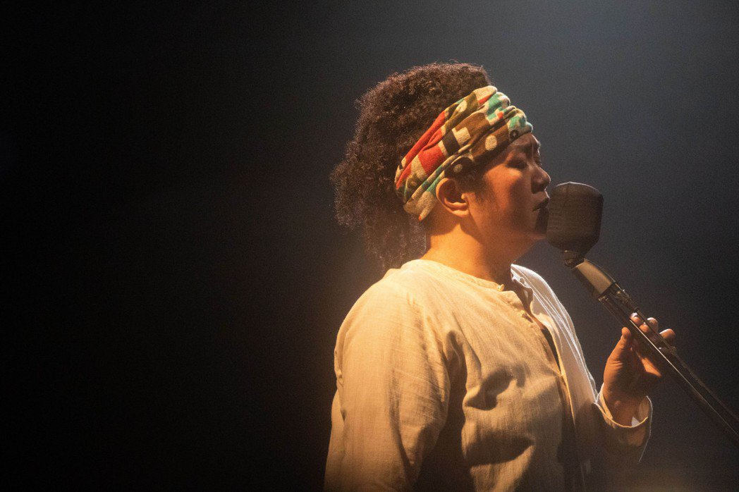 原民歌手巴奈昨晚舉行個人生涯首場專場演出。圖/子皿提供