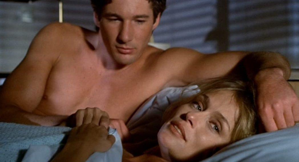 李察吉爾與蘿琳荷頓在「美國舞男」的激情裸露床戲,曾經造成話題。圖/摘自imdb
