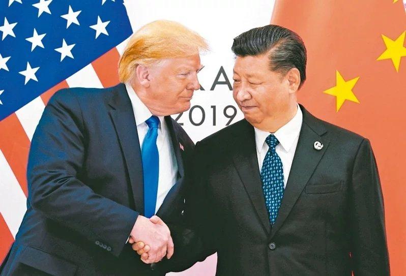 美國前總統川普(左)與中共總書記習近平(右)。圖/取自路透社