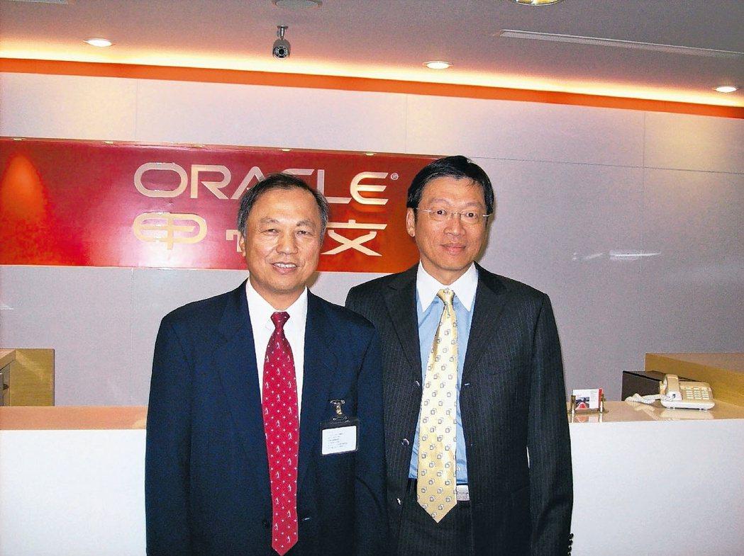 資通電腦董事長余宏揚(左)(本報系資料庫)