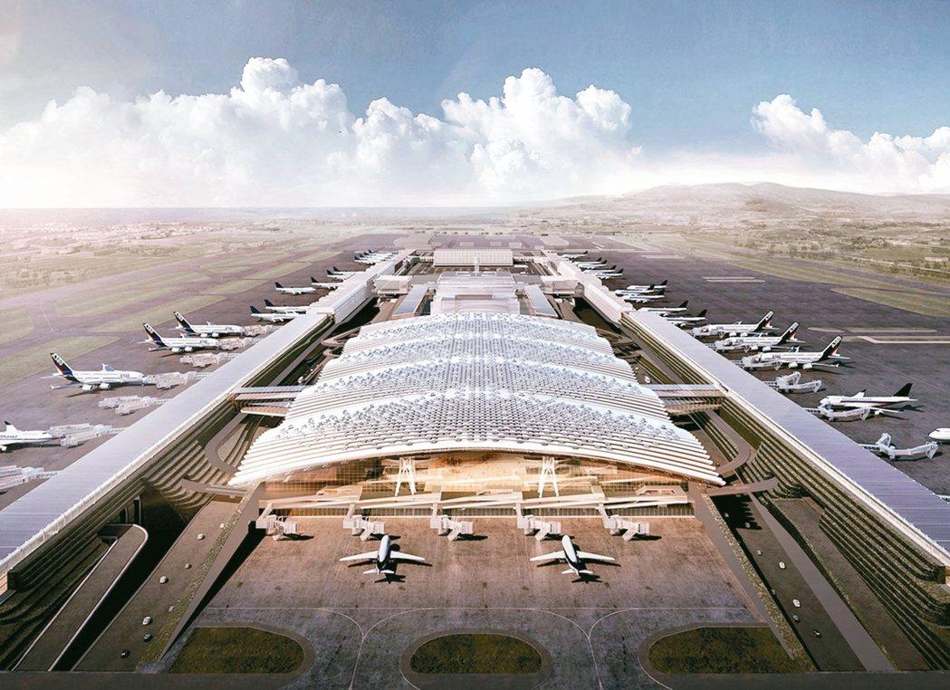 桃園機場第三航廈示意圖。圖/桃機公司提供