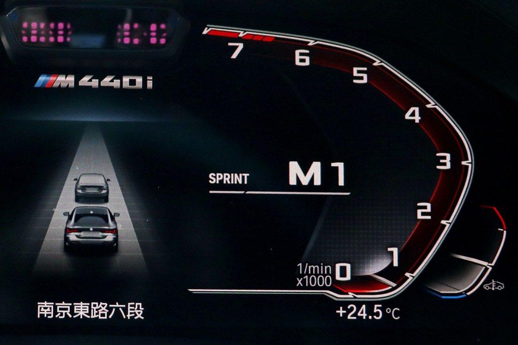 首次出現在BMW車款的Sprint衝刺功能。 記者陳威任/攝影