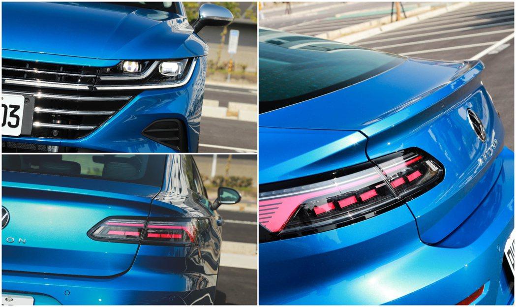 Volkswagen Arteon具備了了IQ.Light智慧燈組。 記者張振群...