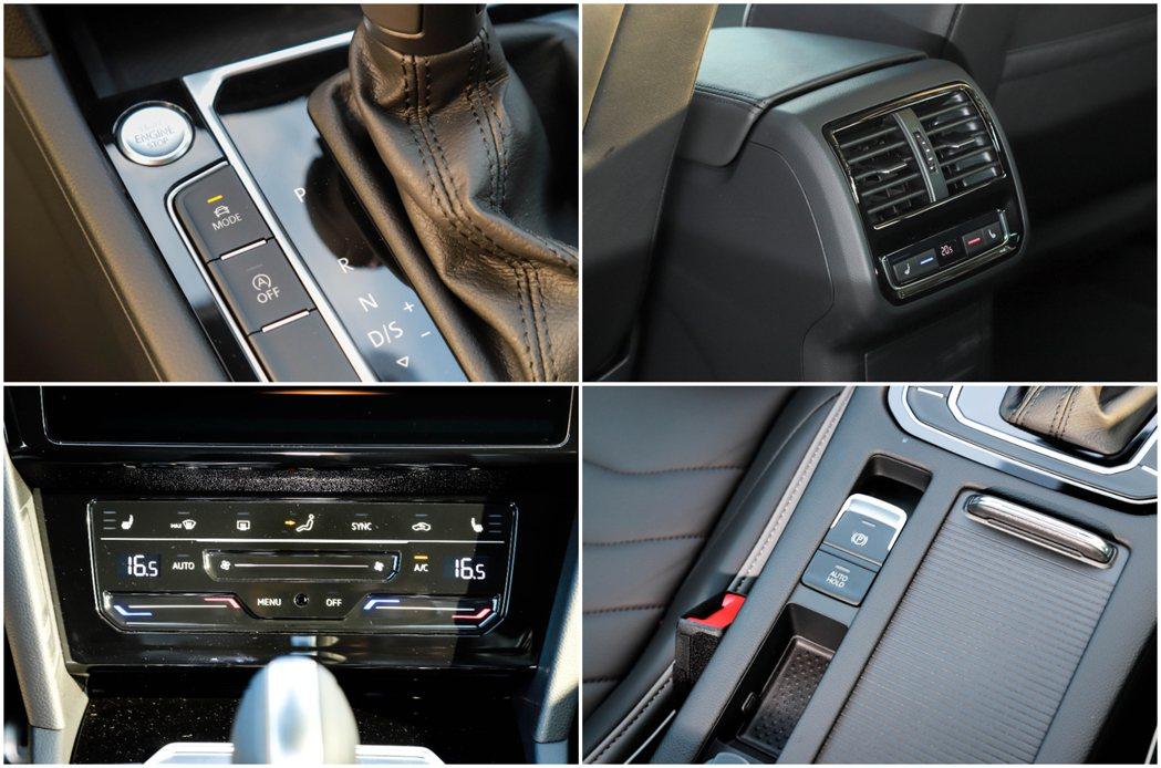 Volkswagen Arteon的冷暖空調系統也改以電容觸控式面板,不僅增添了...