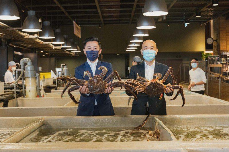 市長林智堅日前拜訪三井集團旗下「上引水產」。圖/新竹市政府提供