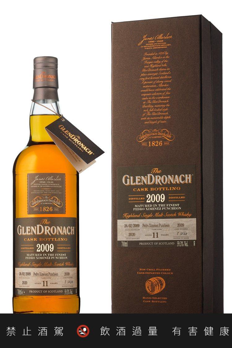 格蘭多納單一桶裝Batch 18 2009 #2039單一麥芽蘇格蘭威士忌。圖/...