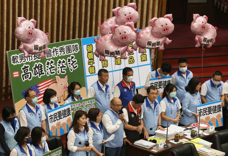 高雄市長陳其邁對萊豬議題不明確表態,引發市議會國民黨團強烈質詢,但媒體對高市議會的關注已大不如前市長韓國瑜時期。圖/聯合報系資料照片