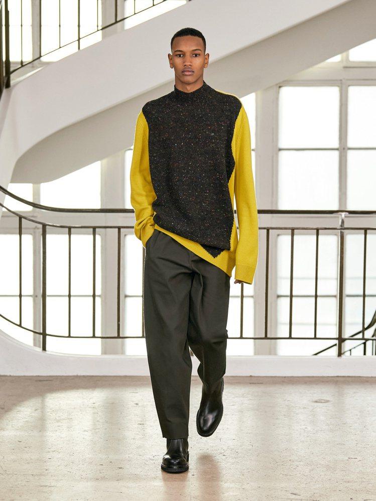 慵懶的針織衫結合寬鬆西裝褲。圖/愛馬仕提供