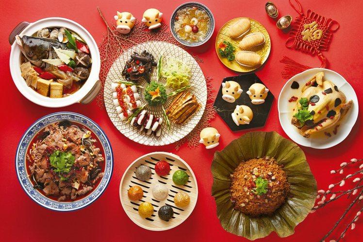 樂天皇朝五福迎春年菜套組,每套4288元。圖/樂天皇朝提供