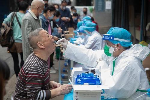 北京西城區在一百多萬人全員核酸篩檢後找出一名確診治癒後復陽病例。(百度)