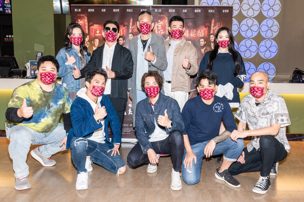 「角頭-浪流連」演員到台南宣傳電影。圖/齊石提供