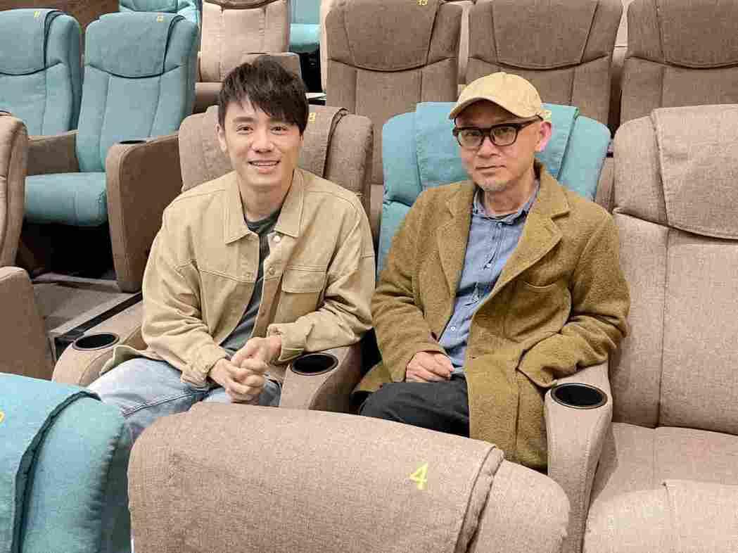 陳宏一昨應邀赴台中「中山73」分享他的創作理念,邱志宇(左)也在台下聆聽。圖/海