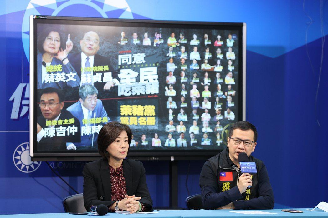 國民黨籍台北市議員羅智強,近期積極宣傳反萊豬公投連署。 圖/聯合報系資料照