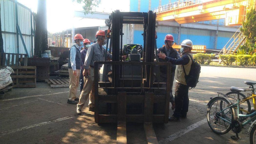堆高機作業檢查。  臺南市政府勞工局/提供
