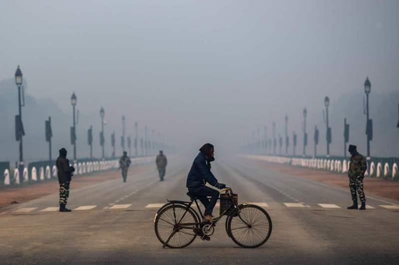 2020年印度空氣污染最嚴重的10個地點,有7個在首都新德里。圖/法新社