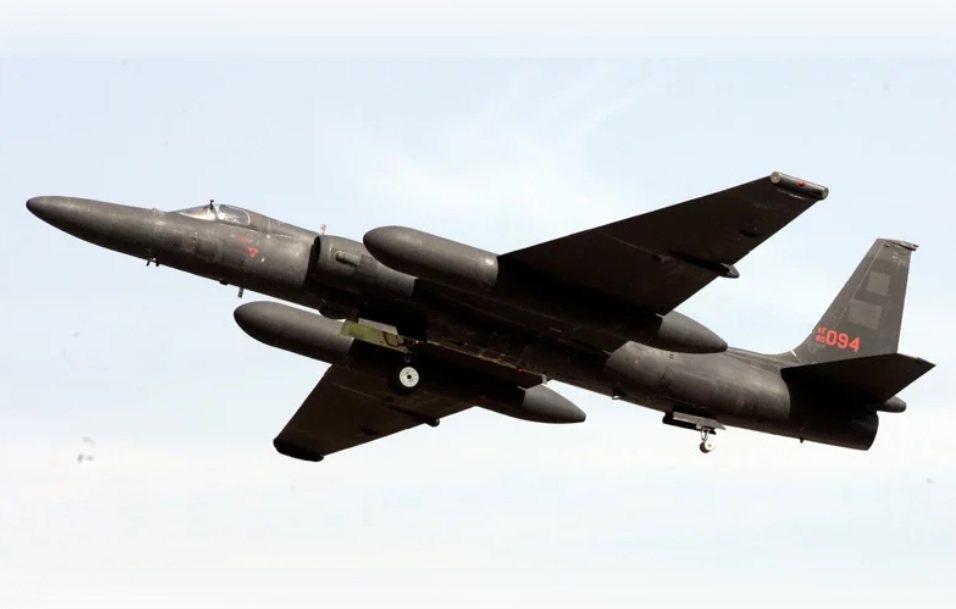 美國空軍U2偵察機。美聯社