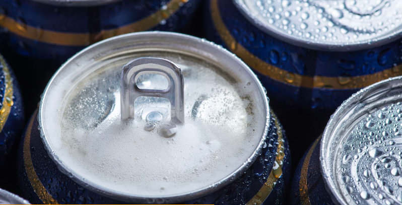 天津市一批美國進口啤酒外包裝核酸檢測出陽性。(取自大陸微博圖片)
