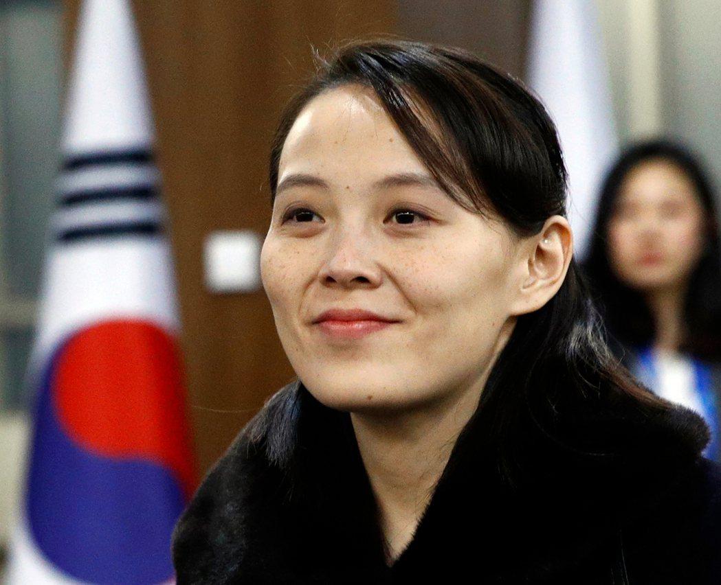 北韓領導人金正恩胞妹金與正。(美聯社)