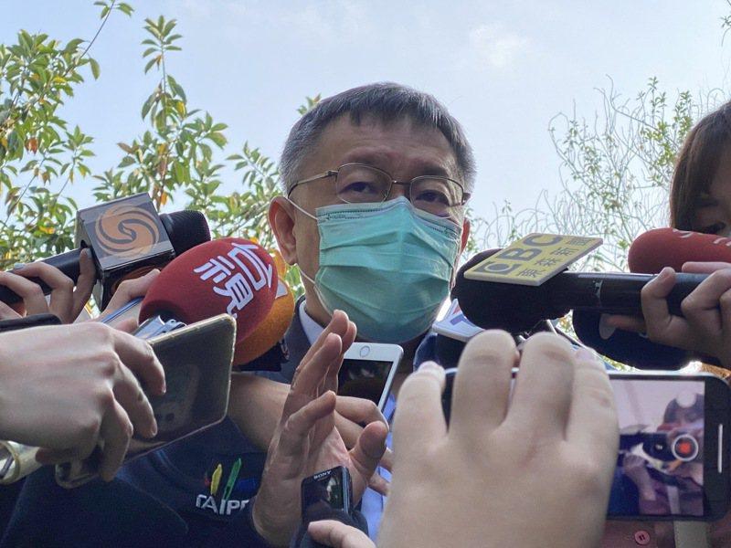 台北市長柯文哲表示,若居家檢疫、隔離人數破萬,「壓力太大」。記者胡瑞玲/攝影