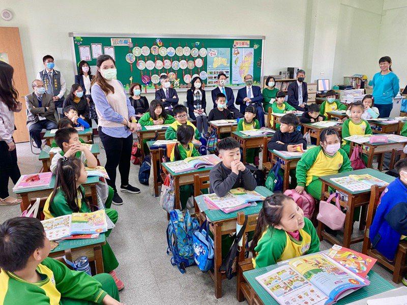 上銀七年前就將長年贊助新竹六家國小的英語教學課程,導入雲林莿桐國小。記者宋健生/攝影