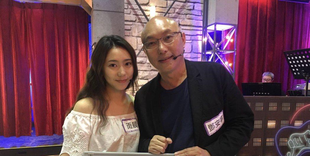 鄧安寧(右)與女兒鄧雨晨。圖/大愛提供