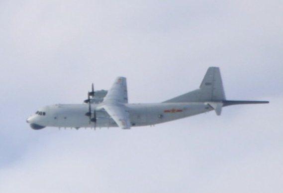 國防部發布中共解放軍軍機擾我空防動態,今天一架運-8反潛機(如圖、同型機)持續侵入我西南空域防空識別區。圖/國防部