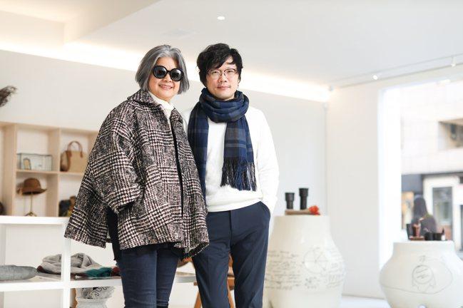 陳季敏(左)再度找來空間設計師謝文智,操刀設計 JAMEI CHEN大安概念店。...