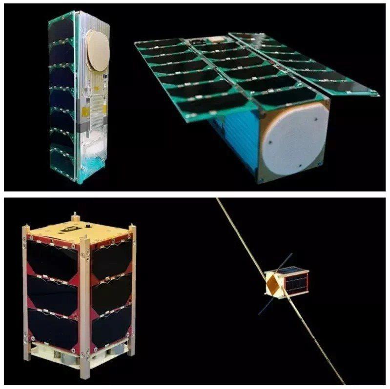 立方衛星「飛鼠」(上)與「玉山」(下)24日晚間11時發射升空。圖/取自國家太空中心官網