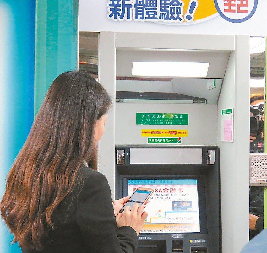 中華郵政ATM無卡提款,手機預約就能領錢。(本報系資料庫)