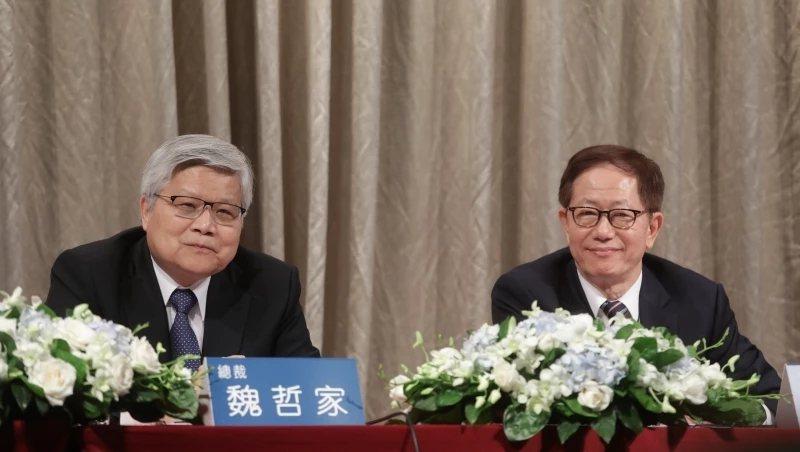 台積電總裁魏哲家(左)、董事長劉德音(右)。 圖/商業周刊陳宗怡