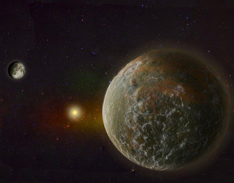 天文學家日前在太空深處發現一個尺寸跟運行軌道很類似地球的行星。示意圖/ingimage