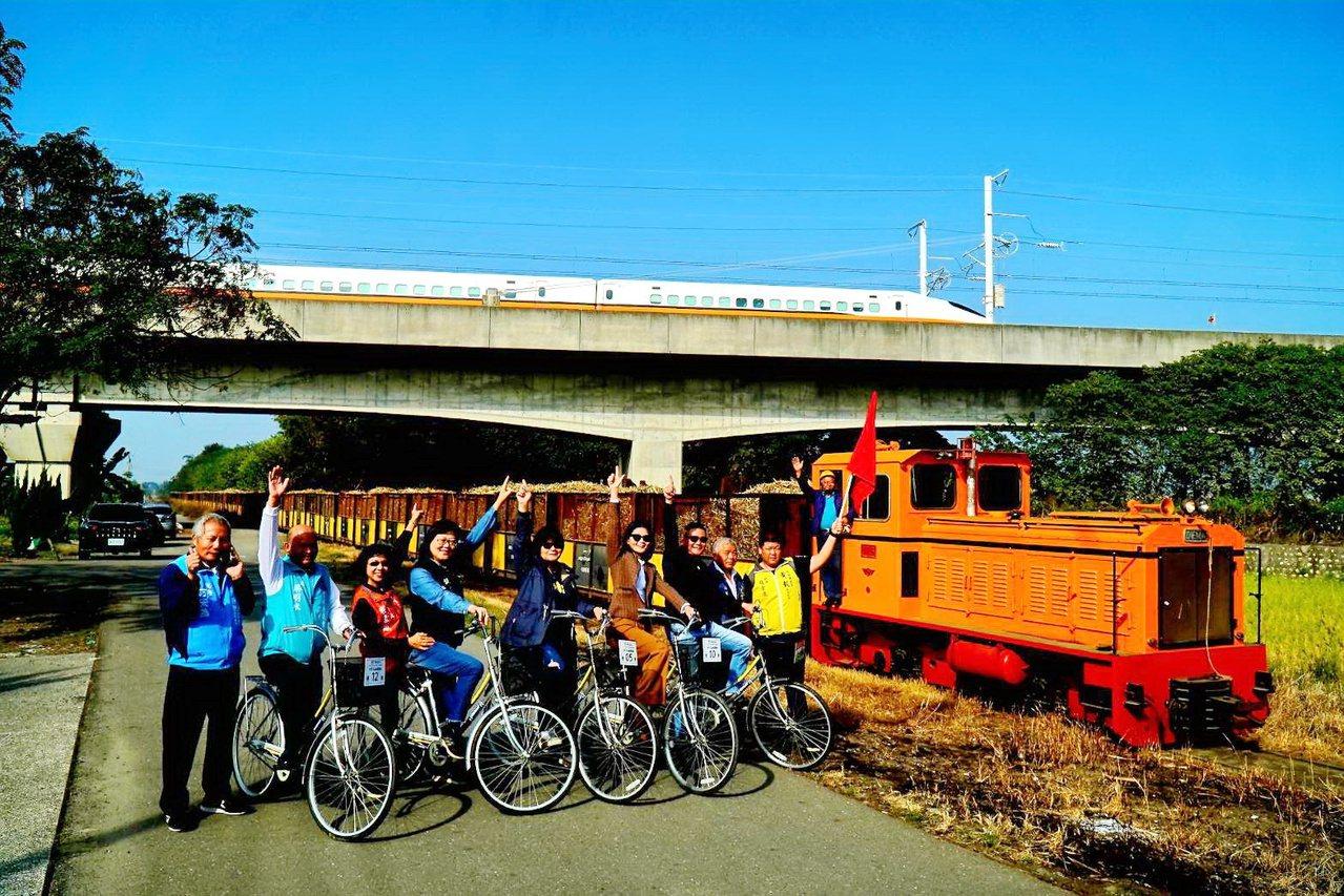 虎尾騎鐵馬追小火車,觀賞全國最快和最慢列車的世紀交會,成為雲林中區新的熱門景點。...