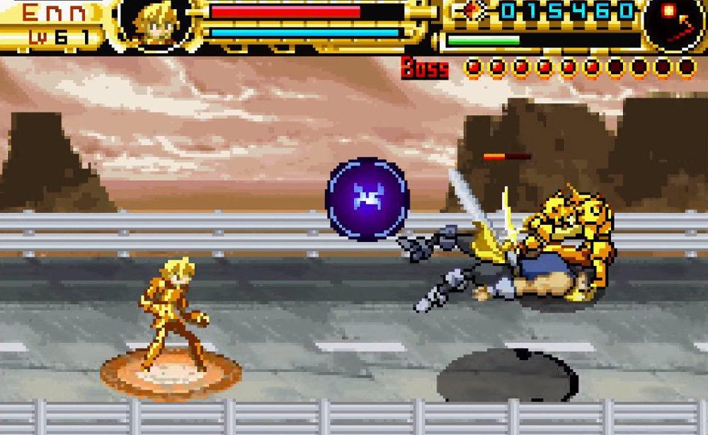 守護英雄A的遊戲畫面,故事延續守護者列傳,會有要與前代主角為敵作戰的場面。
