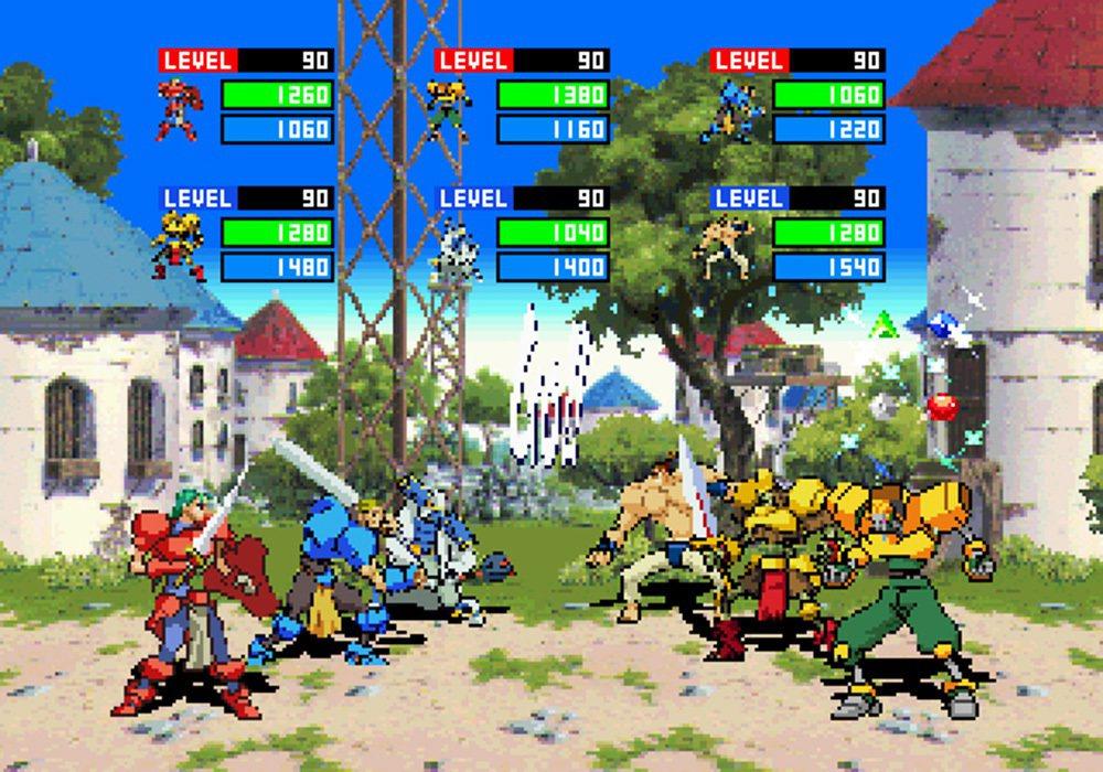 最多一次可以讓六人同時進行打鬥的對戰模式,玩起來就跟格鬥遊戲同樣刺激喔!
