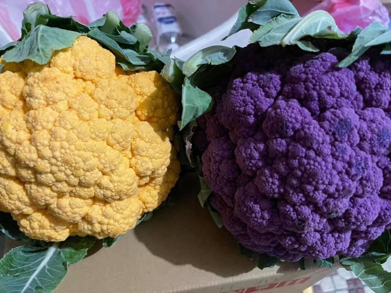 紫色花椰菜擁有豐富的花青素跟維生素,能增強免疫力和預防高血壓。圖擷自facebook
