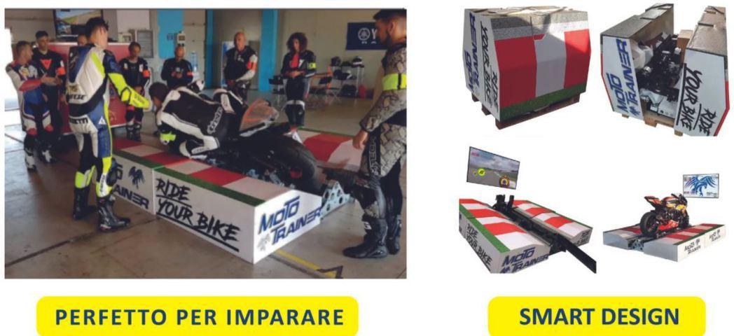 模擬器機台也相當好收納。 摘自Moto Trainer