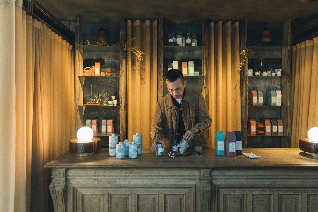 Marco和太太Karen創立「琥泊茶苑」分享茶的美好。Jimmy Yang/攝...