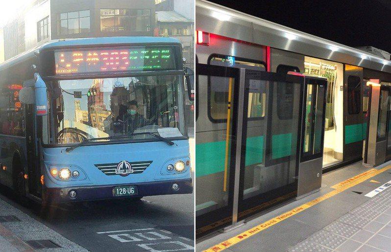 一名近日換上班地點的網友,上網詢問大家通勤較喜歡搭公車還是捷運,引發討論。示意圖/聯合報系資料照片