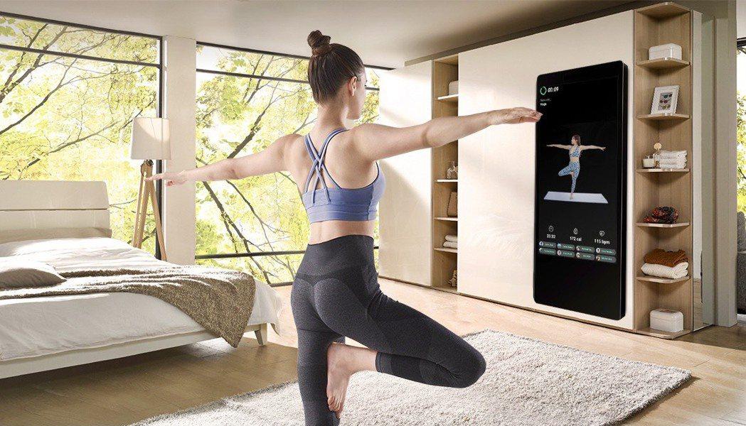 喬山健身魔鏡打破健身慣有的模式,讓家也可以成為健身房。喬山健康科技/提供